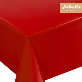 Angular paint film as a table cover in red