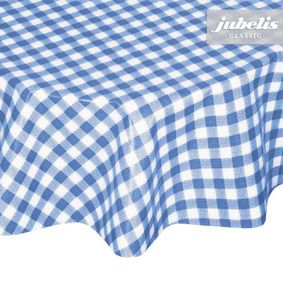 Tablecloth made to measure from checkered oilcloth