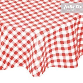 Water-resistant checked oilcloth