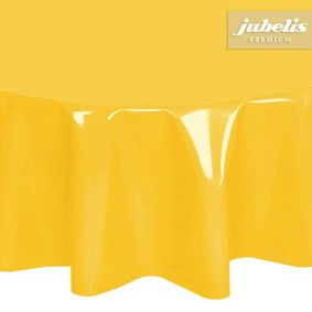 Yellow paint films tablecloth in approximate sizes